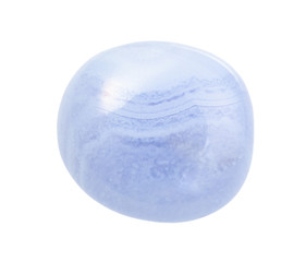 polished blue lace agate (Chalcedony) gemstone