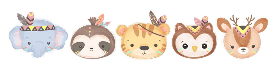 adorable animals illustration for personal project,background, invitation, wallpaper and many more
