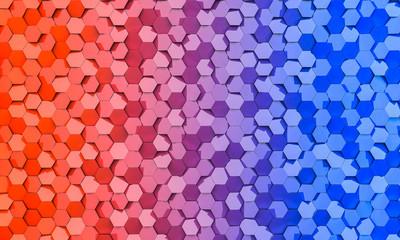 geometric background with hexagonal 3d