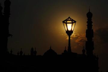 Street Light Against Sky During Sunset Fotomurales