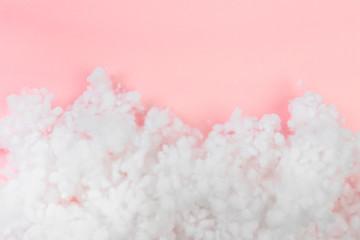 hollowfiber, polyester fiber on a pink  blue background - Image Fotomurales