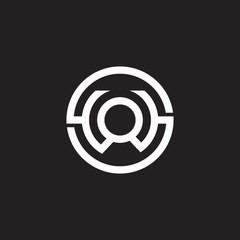 Obraz letter s w o symbol circle geometric line logo vector - fototapety do salonu