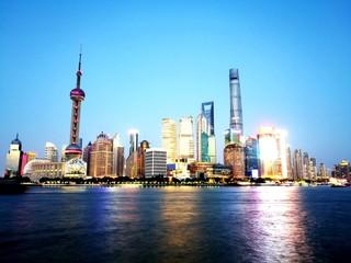 Fotobehang Aziatische Plekken VIEW OF BUILDINGS IN CITY AGAINST CLEAR SKY