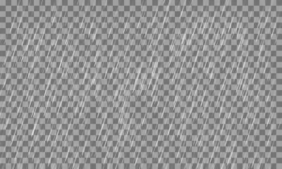 Heavy rain on a transparent background. Vector illustration