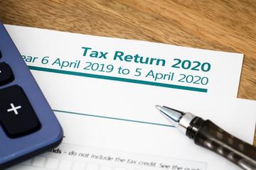 Tax return form UK 2020