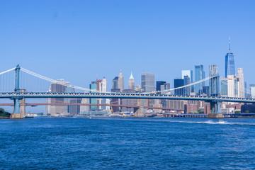 New York, USA - August 20, 2018: Manhattan Bridge