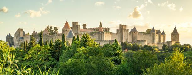 image Carcassonne bei Sonnenaufgangdescription Fototapete