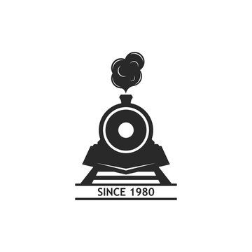 classic locomotive train logo vector icon illutration