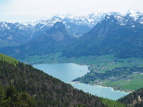 Wandern im Salzkammergut - Blick auf den Wolfgangsee