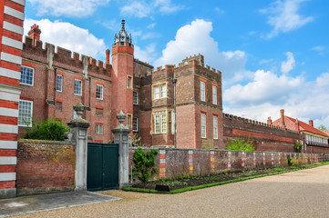 Hampton Court palace facade, London, UK