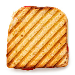 Foto op Plexiglas Snack Cheese and tomato toasted sandwich.