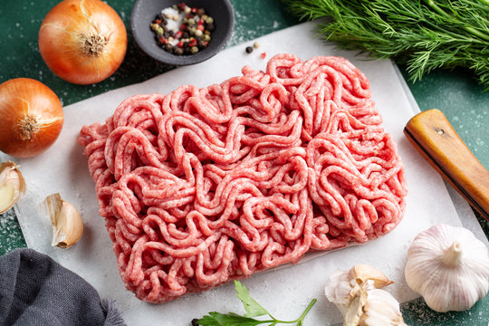 Fresh minced meat ready for cooking