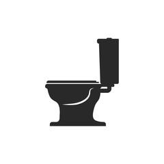 Toilet bowl icon. WC icon toilet or restroom. Vector symbol logo design element.