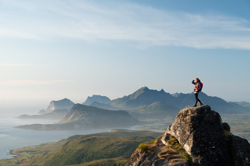 Lofoten islands are full of mountains and ocean view. From Skottinden mountain to Unstad village...