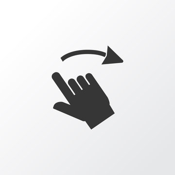 Swipe right icon symbol. Premium quality isolated gesture element in trendy style.