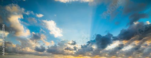 Fotobehang Colorful cloudy sky at sunset