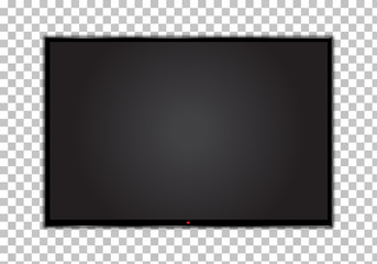 TV, modern blank screen lcd, led, on transparent background, without glare