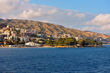 view from the Messina Sicily Italy ferry