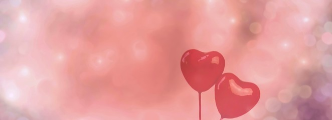 Fototapete - valentines day background with hearts