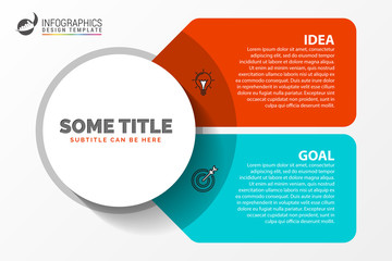 Wall Mural - Infographic design template. Creative concept with 2 steps