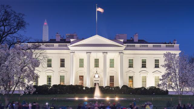 Washington, DC at the White House at Night