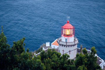Lighthouse Arnel in the Azores, Portugal.