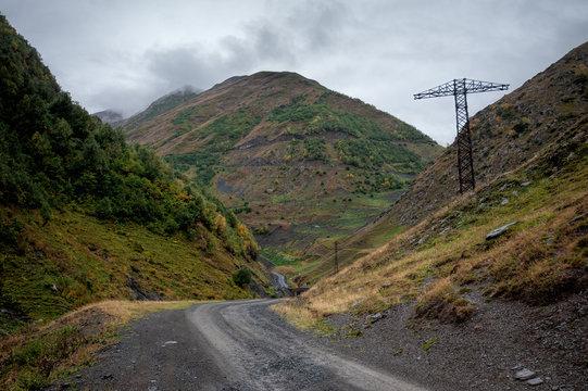 View of the path to the Abano Pass, Georgia