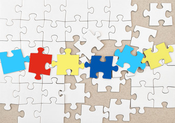 Autism concept Jigsaw puzzle background texture