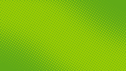 Bright green pop art background in retro comic book style