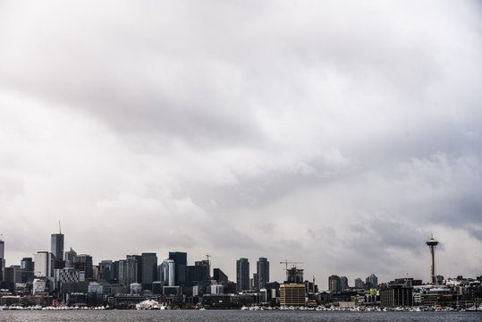 City Skyline from Gas Works Park in Seattle, Washington