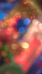 Abstract circular bokeh background of Christmas and New Year light