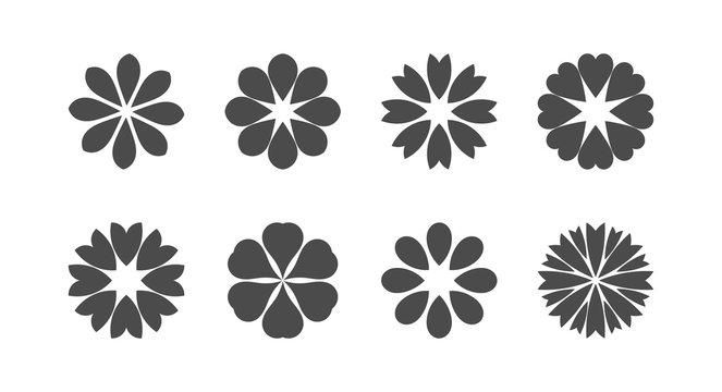 Flowers icons set.