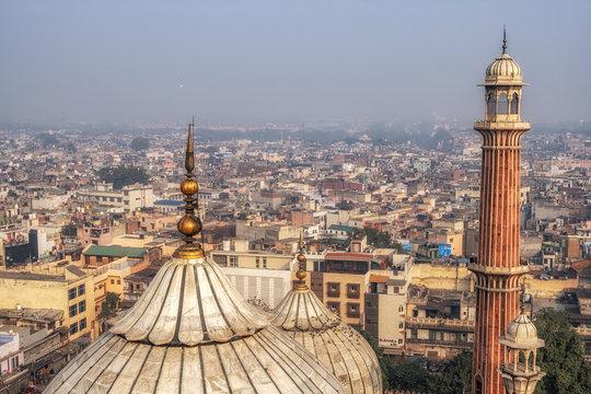 view of jama masjid and new delhi