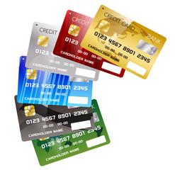 キャッシュレス決済に使えるクレジットカードデザインイメージ