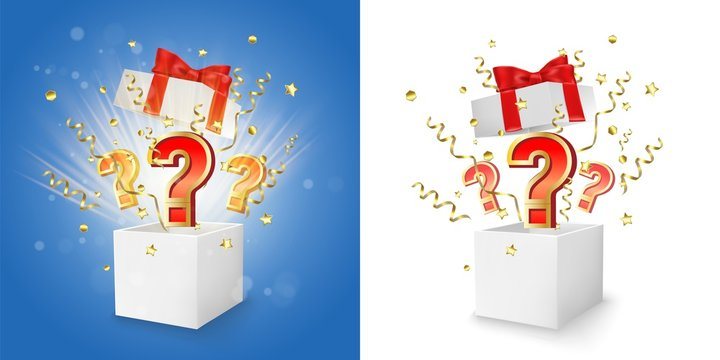 Question box vector concept for banner, poster