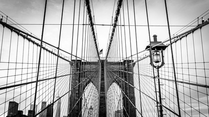 Zelfklevend Fotobehang Brooklyn Bridge brooklyn bridge in new york