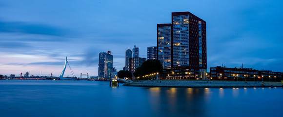 Canvas Prints Rotterdam skyline rotterdam