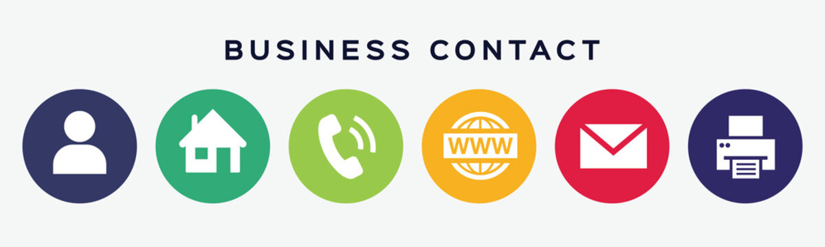 Business contact icons.