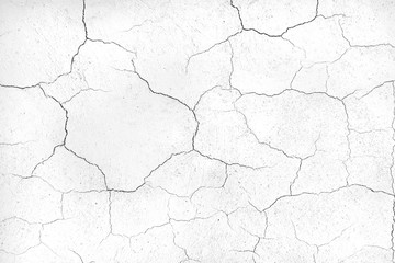 crack concrete white wall or Cement wall background