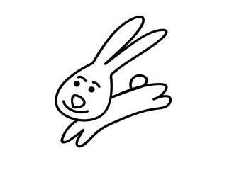 Obraz królik, Kolorowanka, dzieci, zabawka, zabawny, naklejka, rysunek, edukacja - fototapety do salonu