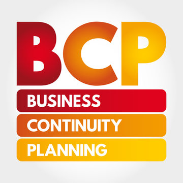 BCP - Business Continuity Planning acronym, business concept background