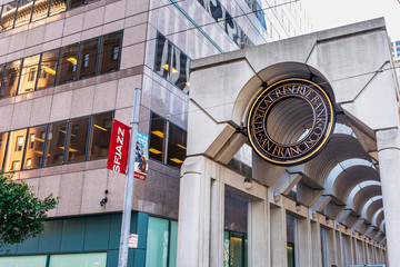 Jan 18, 2020 San Francisco / CA / USA - Federal Reserve Bank of San Francisco building; The Federal Reserve Bank of San Francisco is the federal bank for the twelfth district in the United States