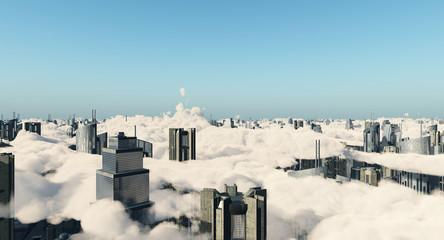 Wolken über einer Megastadt
