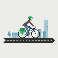 Cycling commuter, velotaf