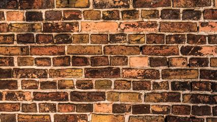 Old weathered brick wall.