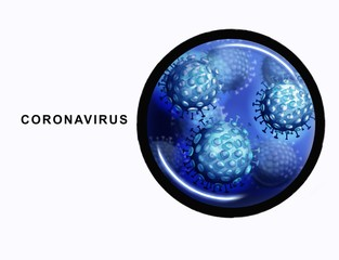Illustration of the human coronavirus. 2019-nCoV