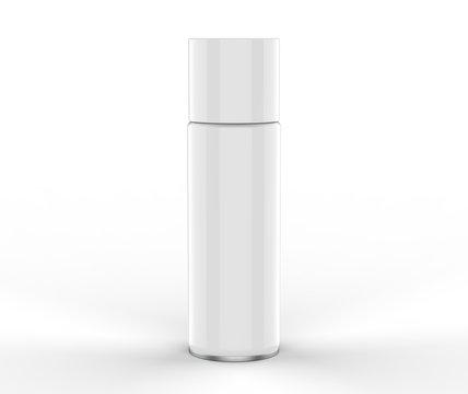 Blank spray tin can for branding. 3d render illustration.