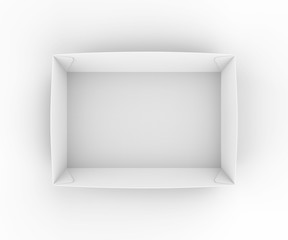 Blank craft tray for food items and branding. 3d render illustration.