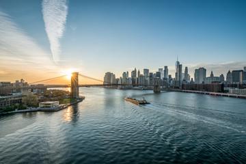 Fotomurales - Manhattan skyline with Brooklyn Bridge