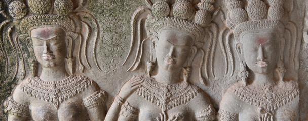 Mur à Angkor vat Fototapete